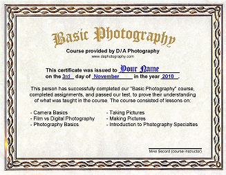 Photography Courses .net - Learn about photography